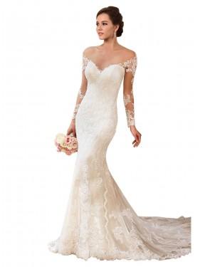 Best Ivory Mermaid Sweetheart Chapel Train Sleeveless Lace Wedding Dress Canada